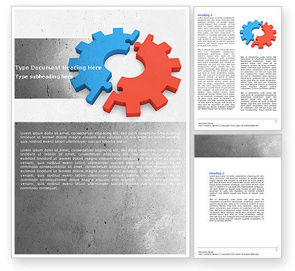 Assembling Word Template, 04697, Utilities/Industrial — PoweredTemplate.com