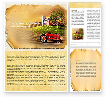 Life On The Farm Word Template, 04698, Agriculture and Animals — PoweredTemplate.com