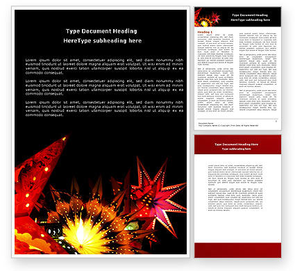 Festival of Lights Word Template, 04701, Holiday/Special Occasion — PoweredTemplate.com