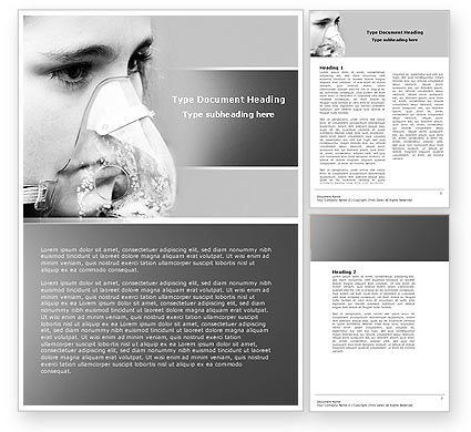 Oxygen Mask Word Template, 04702, Medical — PoweredTemplate.com