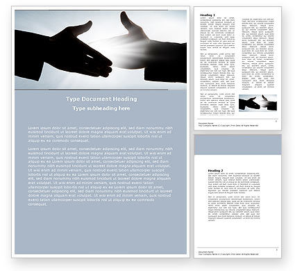 Business: Contact Word Template #04709