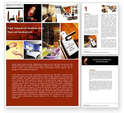 Hotel Services Word Template, 04713, Careers/Industry — PoweredTemplate.com