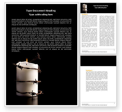 Religious/Spiritual: Commemoration Word Template #04716