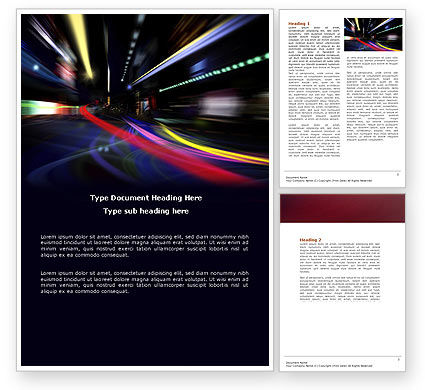 Long Exposure Word Template, 04717, Cars/Transportation — PoweredTemplate.com