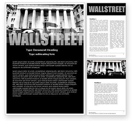 Financial/Accounting: Wall Street Word Template #04718