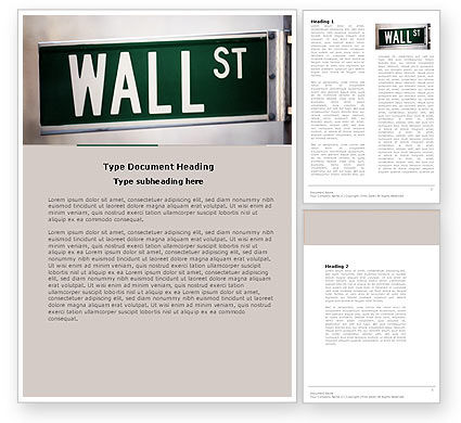 Financial/Accounting: Wall St Word Template #04722