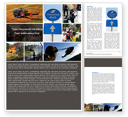 Evacuation Word Template, 04723, Cars/Transportation — PoweredTemplate.com
