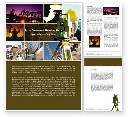 Construction: Surveying Word Template #04728