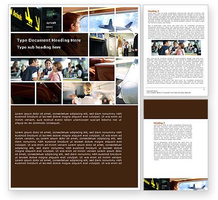 Departure Zone Word Template, 04731, Cars/Transportation — PoweredTemplate.com