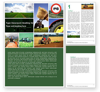 Tractor Collage Word Template, 04733, Agriculture and Animals — PoweredTemplate.com