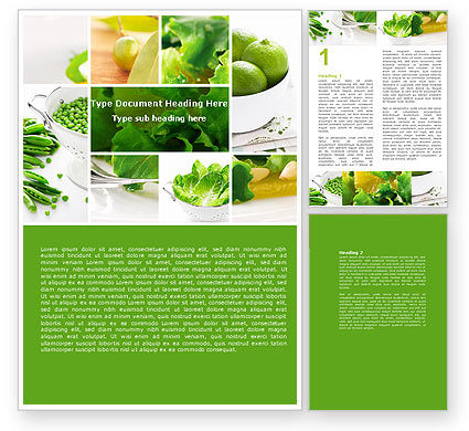 Green Salad Word Template, 04737, Food & Beverage — PoweredTemplate.com