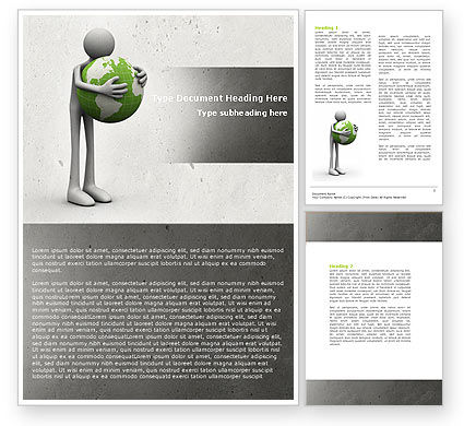 World Love Word Template, 04748, Global — PoweredTemplate.com