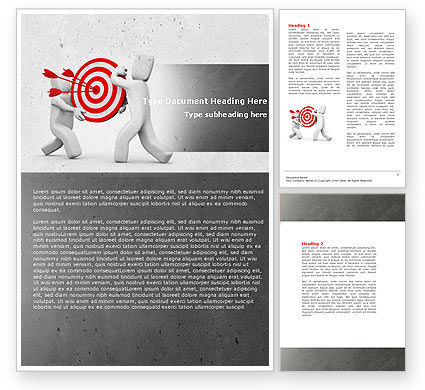 Target Point Word Template, 04751, Business Concepts — PoweredTemplate.com