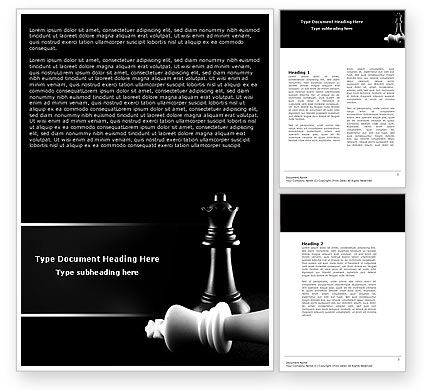 Checkmate Word Template, 04754, Sports — PoweredTemplate.com