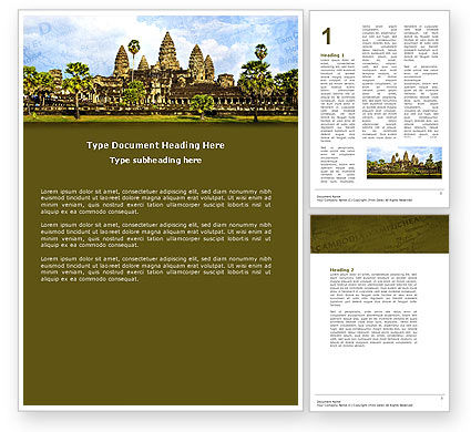 Cambodia Word Template, 04756, Flags/International — PoweredTemplate.com