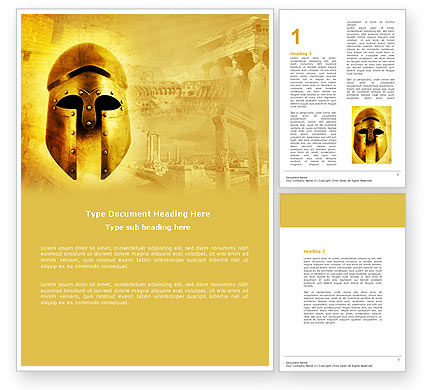 Antiquity Word Template, 04760, Education & Training — PoweredTemplate.com