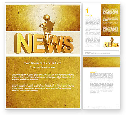 Latest News Word Template, 04766, Careers/Industry — PoweredTemplate.com