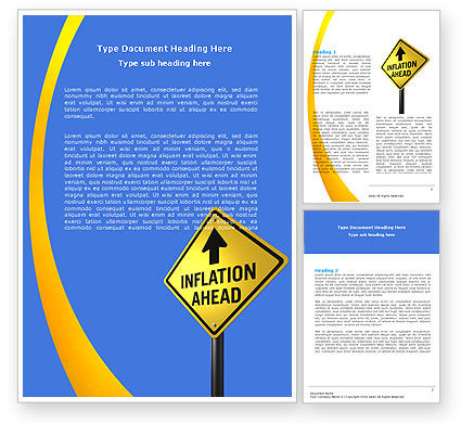 Inflation Threat Word Template, 04767, Financial/Accounting — PoweredTemplate.com