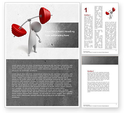 Business Concepts: Strength Word Template #04770