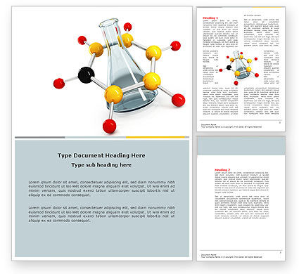 Organic Chemistry Word Template, 04773, Education & Training — PoweredTemplate.com