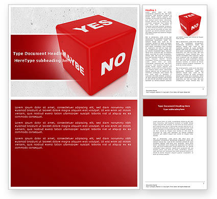 Decision Cube Word Template, 04774, Consulting — PoweredTemplate.com