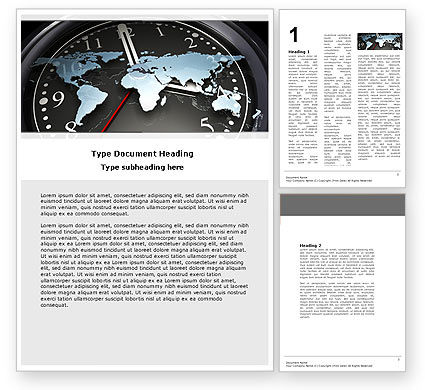 Global: World Clock Word Template #04781