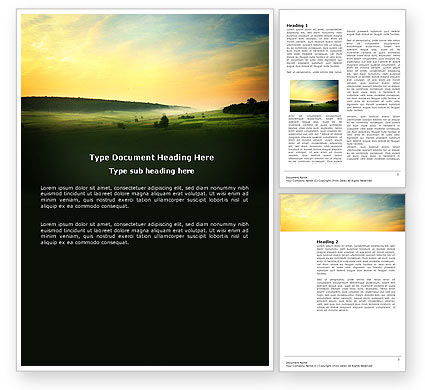 Nature & Environment: Evening View Word Template #04783