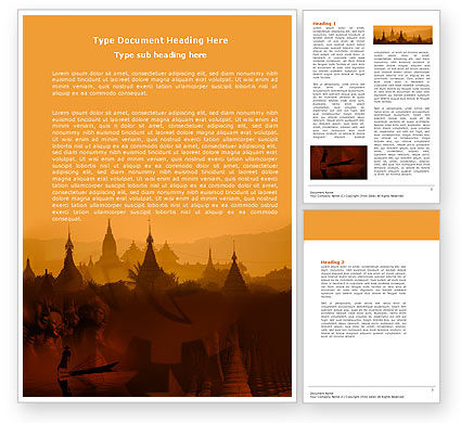 Burma Word Template, 04798, Flags/International — PoweredTemplate.com