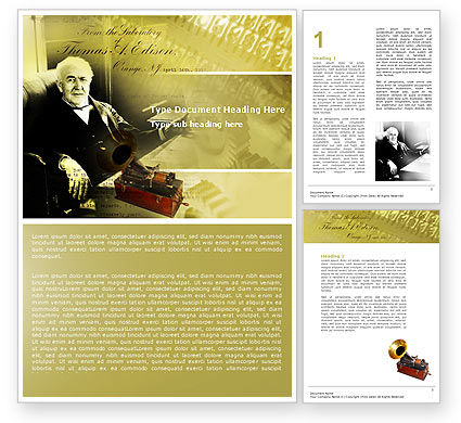 Education & Training: Templat Word Thomas Edison #04802