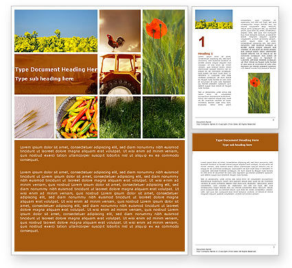 Summer On The Farm Word Template
