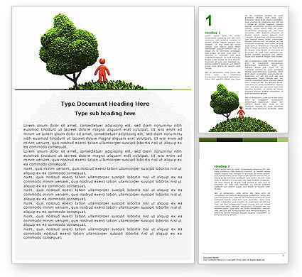 Nature & Environment: Modelo do Word - desenvolvimento verde #04810