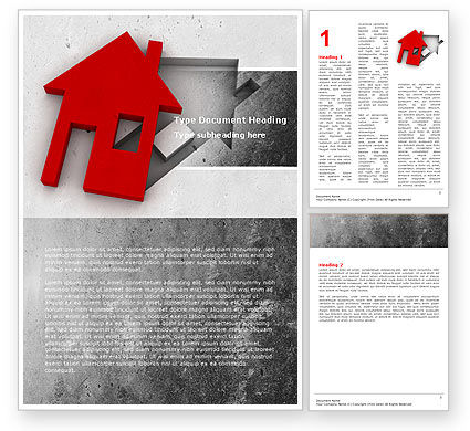 Housing Solution Word Template, 04813, Financial/Accounting — PoweredTemplate.com