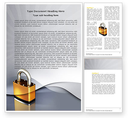 Consulting: Lock Word Template #04814