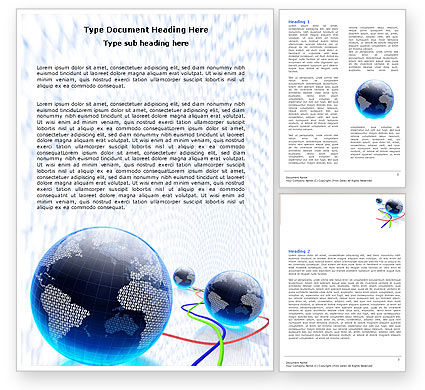 Telecommunication: World Web Word Template #04819