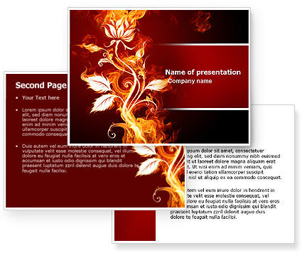 flower backgrounds for powerpoint. Flaming Flower PowerPoint Template, Flaming Flower Background for PowerPoint Presentation. Microsoft Word Template included. Download now!
