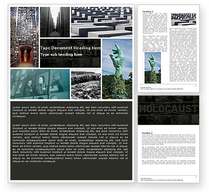 Holocaust Word Template, 04833, Religious/Spiritual — PoweredTemplate.com