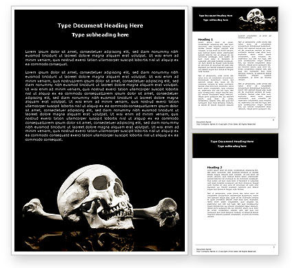 Skull And Bone Word Template, 04834, Education & Training — PoweredTemplate.com