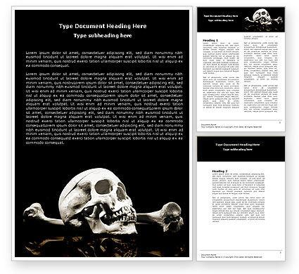 Education & Training: Schädel und knochen Word Vorlage #04834