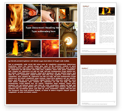 Metallurgy Word Template, 04835, Utilities/Industrial — PoweredTemplate.com