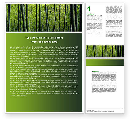 Bamboo Word Template, 04836, Nature & Environment — PoweredTemplate.com