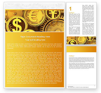 Financial/Accounting: Finance Word Template #04839