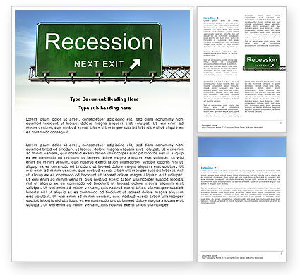 Recession Word Template