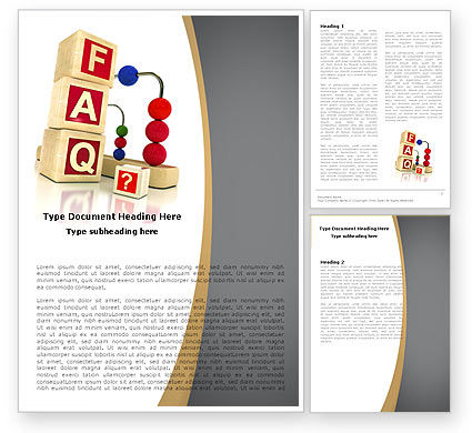 Faq Word Templates Design, Download Now | Poweredtemplate.Com