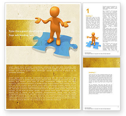 Don't Know Word Template, 04853, Consulting — PoweredTemplate.com
