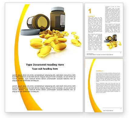 Medical: Plantilla de Word - cápsulas #04855
