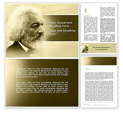 People: Frederick Douglass Word Template #04861