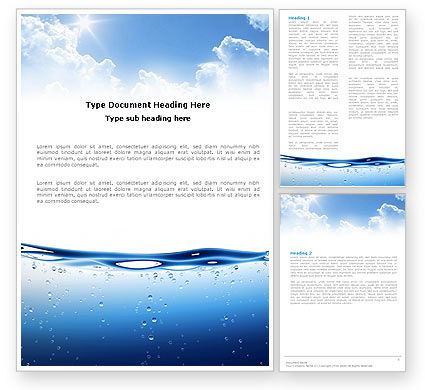 Careers/Industry: Water Wave Word Template #04866