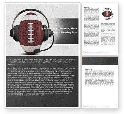 Sports Announcer Word Template, 04870, Sports — PoweredTemplate.com