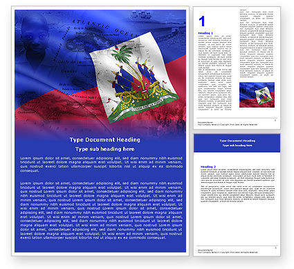 Haiti Word Template, 04875, Flags/International — PoweredTemplate.com