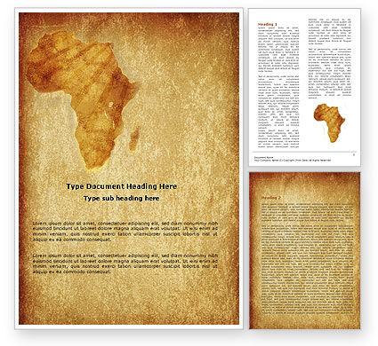 Global: Africa Word Template #04877